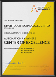 Center of Excellence Certificate