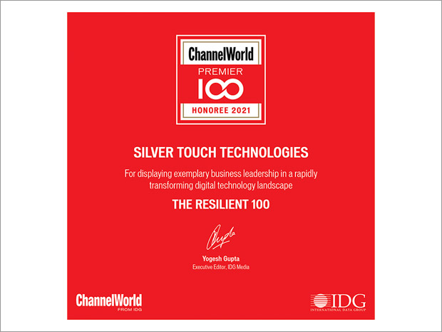 Silver Touch Technologies has won Channel World Premier 100 Award for 2021